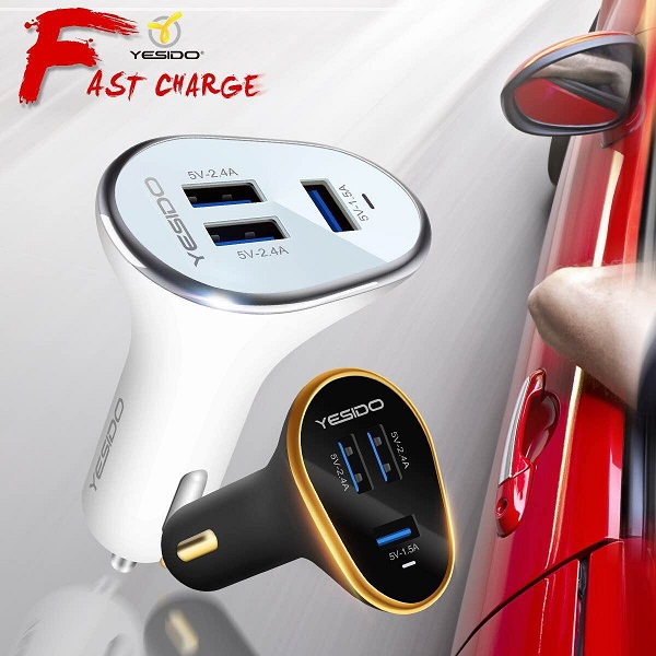 Yesido  Usb Ports High Quality Car Charger