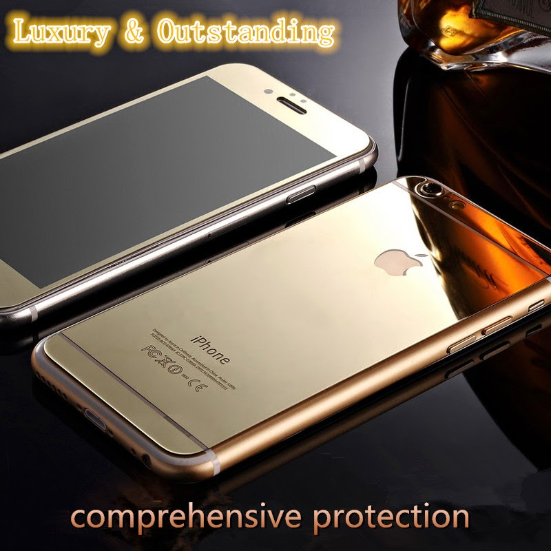Luxury Front+Back Mirror Tempered Glass Protector for iPhone 6 & iPhone 6 plus